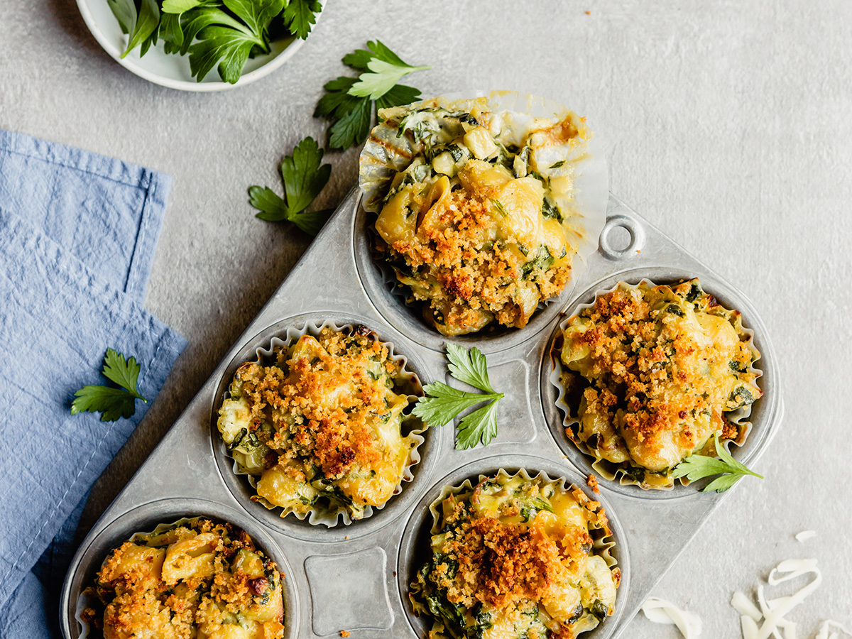 Image of Spinach Artichoke Mac 'n Cheese Cups